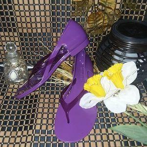 "NWOT ""Michael Kors"" Plum Purple Jelly Sandals."
